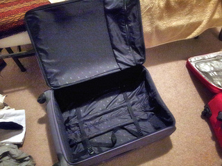 empty suitcase