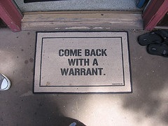 warrant door mat