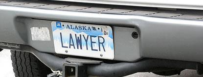 Attorney License Plate