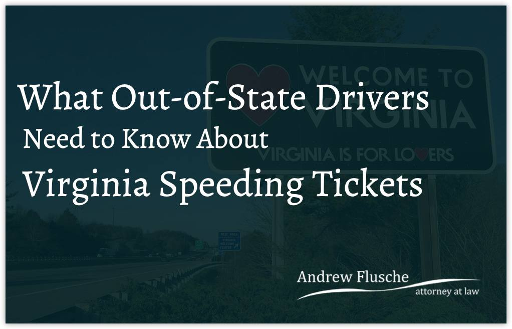 virginia speeding tickets out of state