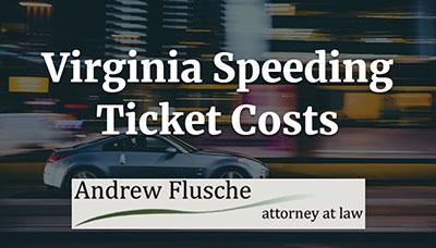 how much is a speeding ticket in va