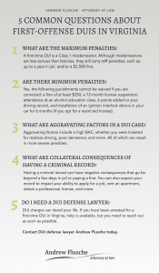 First Time Virginia DUI Infographic